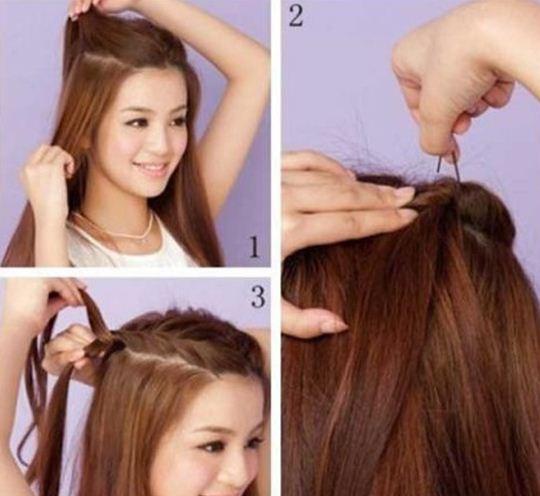Strange 3 Quick And Easy Everyday Hairstyles Short Hairstyles Gunalazisus