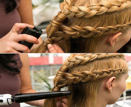 how to braid hair with layers