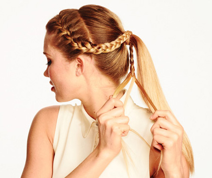 Fantastic Braid With A Ponytail Braids Short Hairstyles Gunalazisus