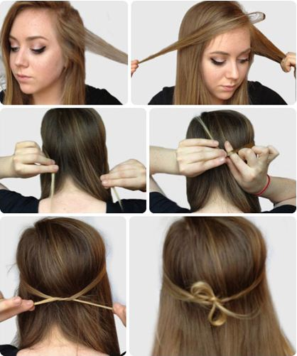 beautiful styles for straight hair