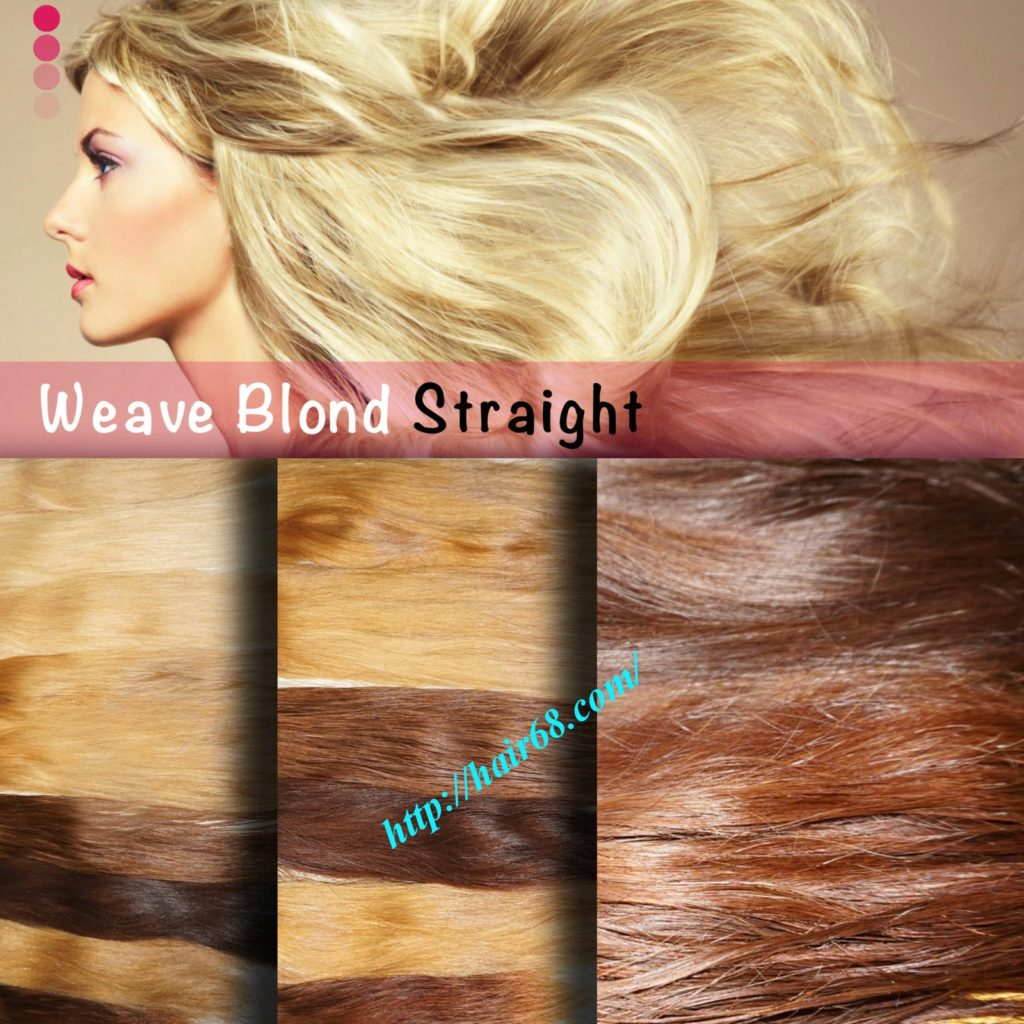 Weave Blonde hair Straight