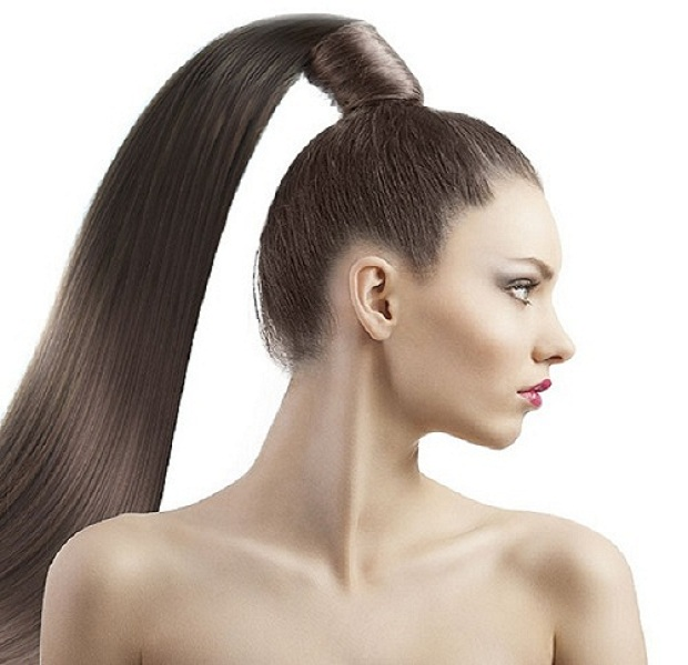 Ponytail hair for girls on Summer