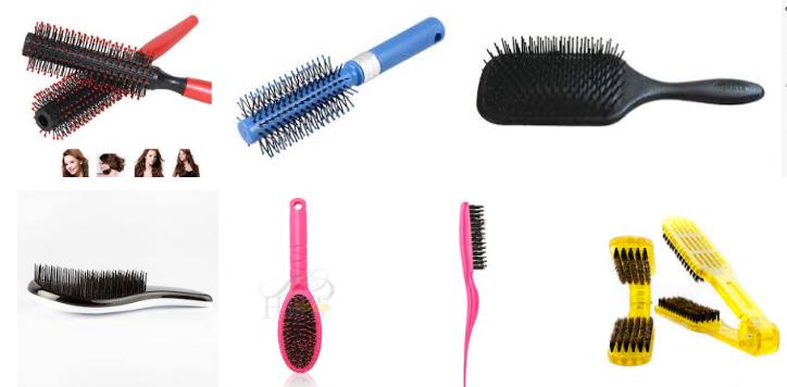 Image of plastic hair brush