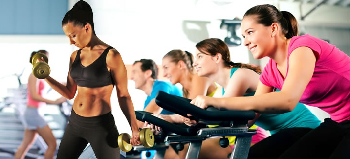 Image of girls training at gym