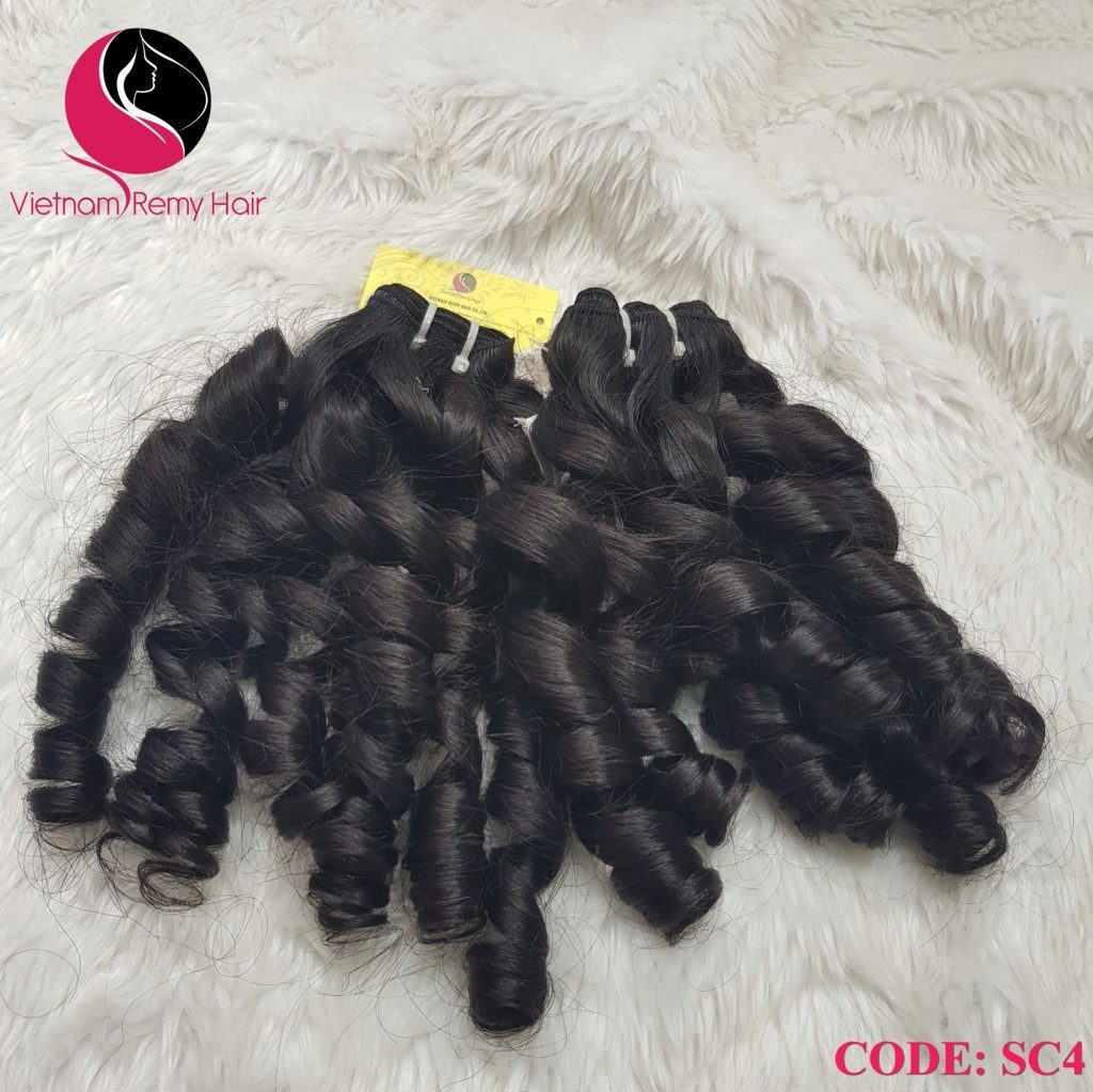 18 inch curly human hair weave