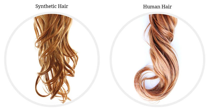 What is the difference between synthetic hair and weave hair extensions online?