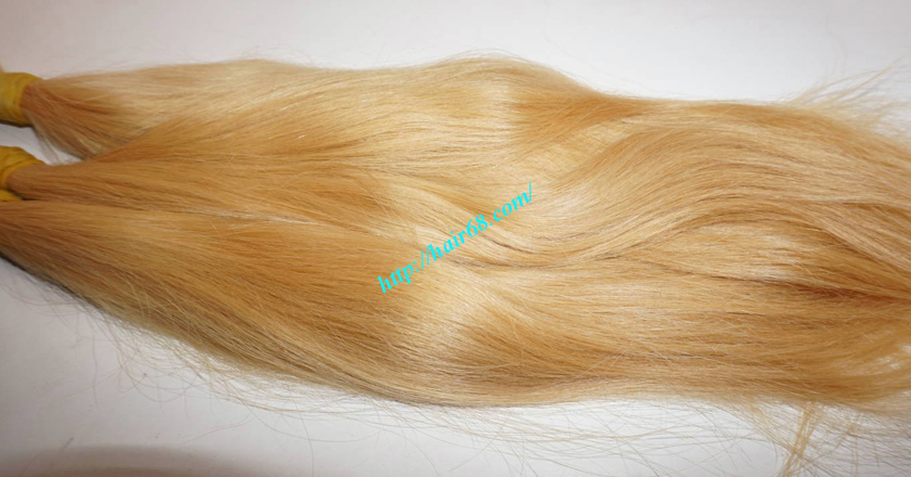 10 inch blonde hair straight single drawn 1