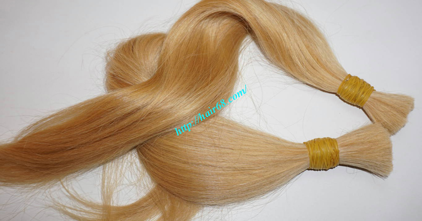 10 inch blonde hair straight single drawn 2