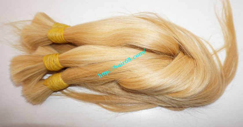 10 inch blonde hair straight single drawn 3