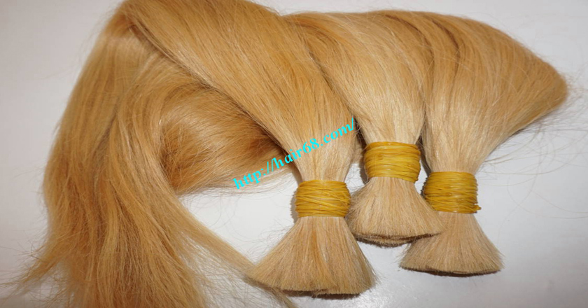 10 inch blonde hair straight single drawn 5