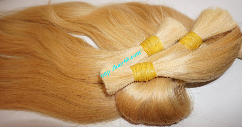 10 inch blonde hair straight single drawn 6