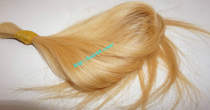 10 inch blonde hair straight single drawn 7