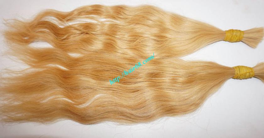 10 inch blonde hair wavy single drawn 1