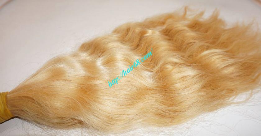 10 inch blonde hair wavy single drawn 2