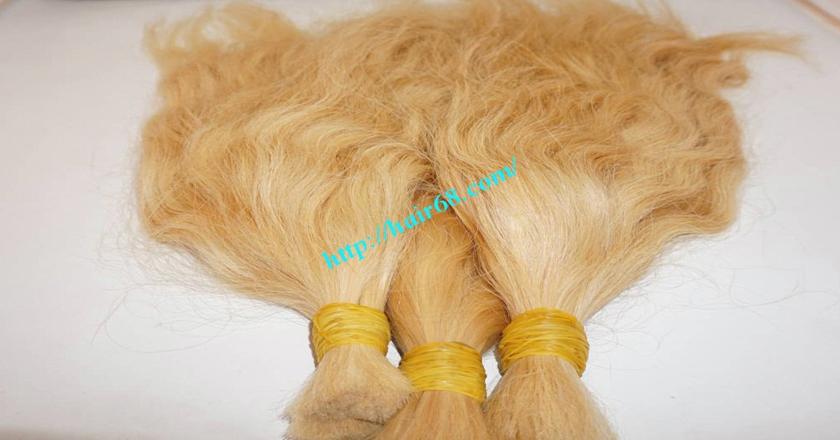 10 inch blonde hair wavy single drawn 3