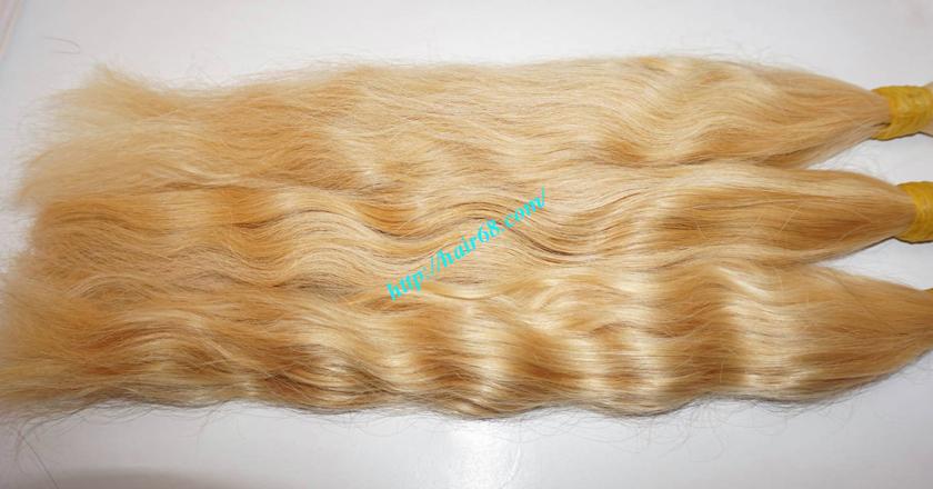 10 inch blonde hair wavy single drawn 4