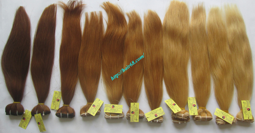 10 inch cheap blonde weave hair extensions 10