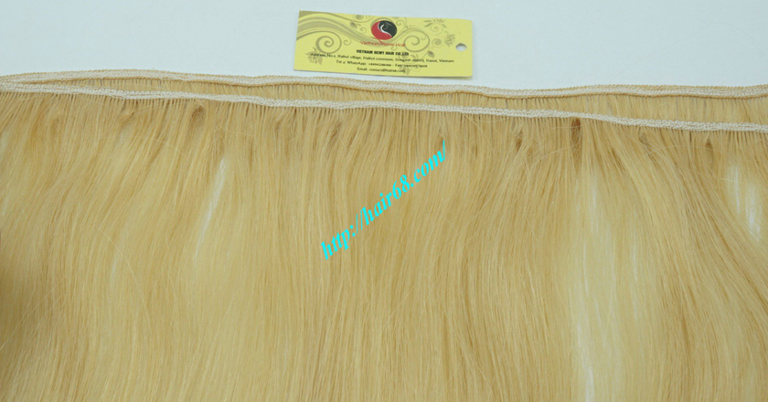 10 inch cheap blonde weave hair extensions 2