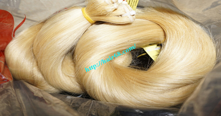 10 inch cheap blonde weave hair extensions 5
