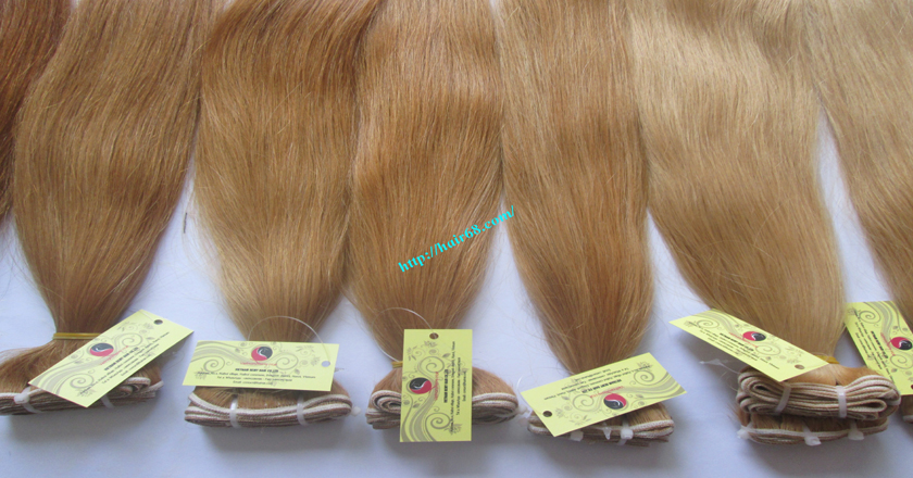 10 inch cheap blonde weave hair extensions 6