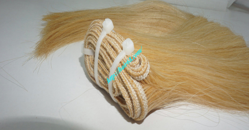10 inch cheap blonde weave hair extensions 7