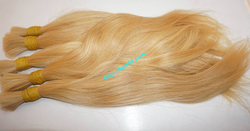 12 inch blonde hair straight single drawn 2