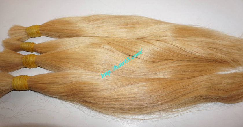 12 inch blonde hair straight single drawn 4