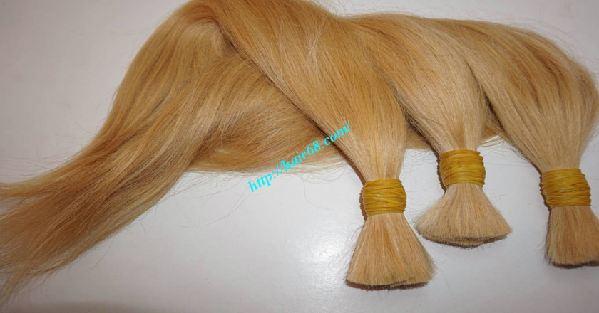 12 inch blonde hair straight single drawn 5
