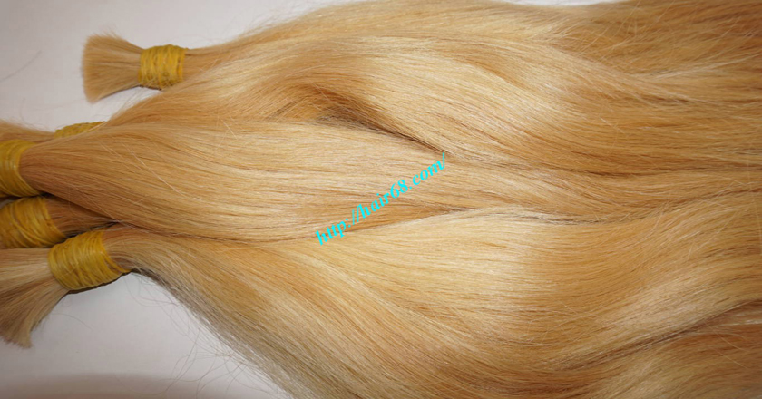 12 inch blonde hair straight single drawn 6