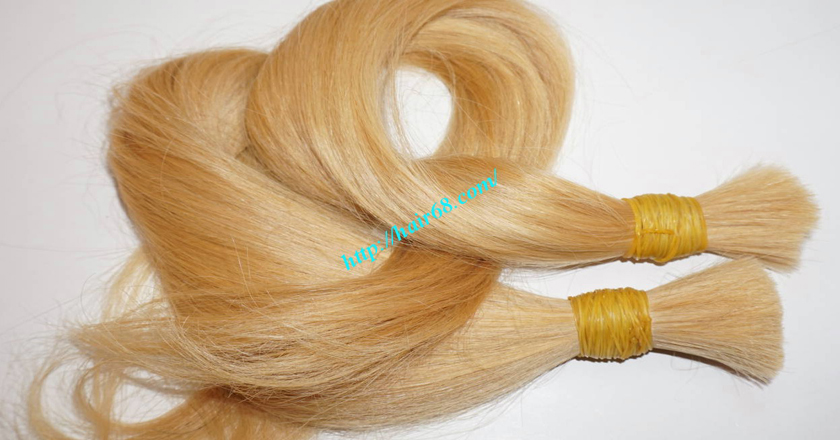 12 inch blonde hair straight single drawn 7