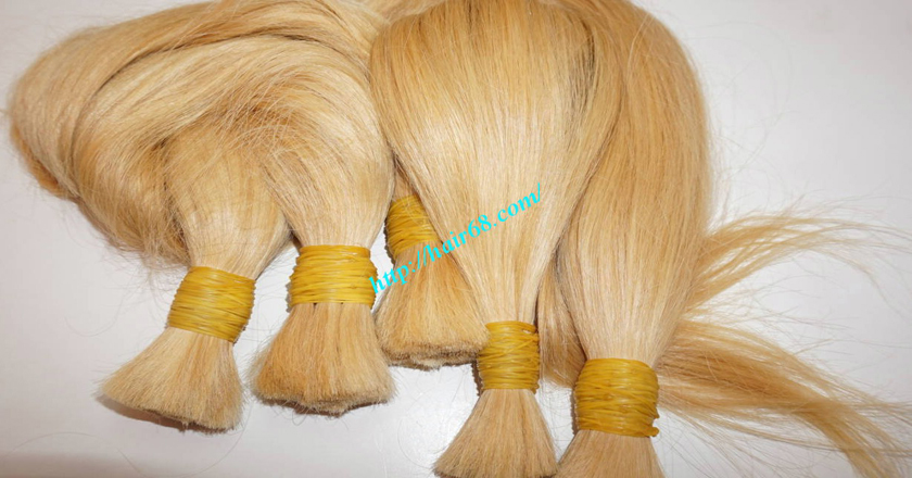 12 inch blonde hair straight single drawn 8