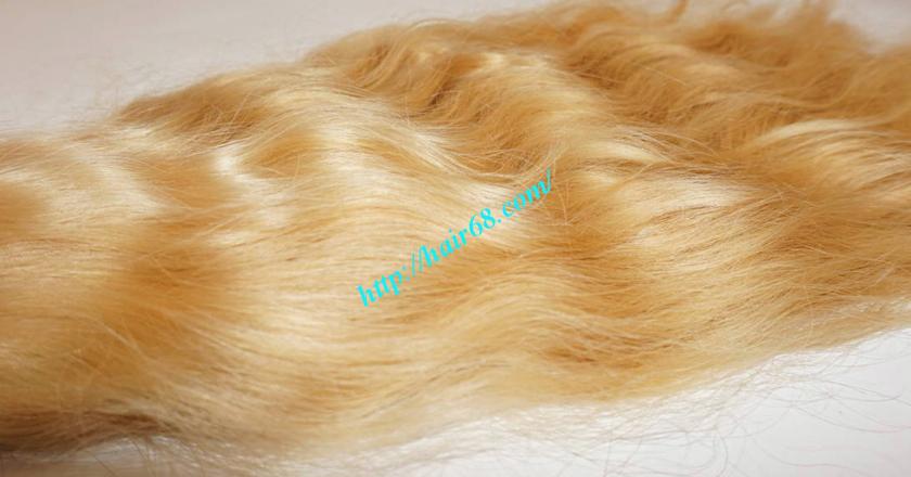 12 inch blonde hair wavy double drawn 2