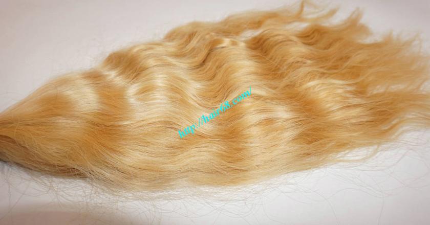 12 inch blonde hair wavy single drawn 1