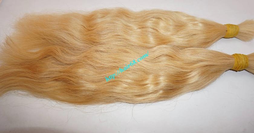 12 inch blonde hair wavy single drawn 2