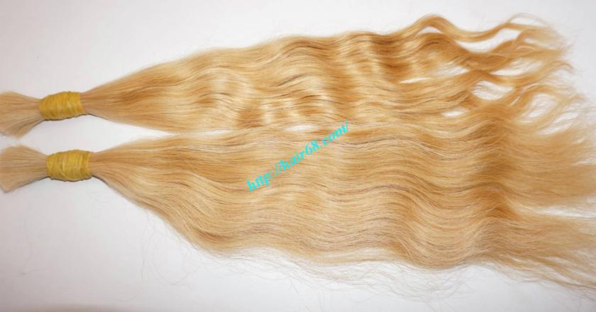 12 inch blonde hair wavy single drawn 3