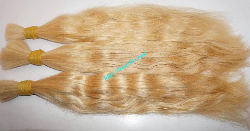 12 inch blonde hair wavy single drawn 4