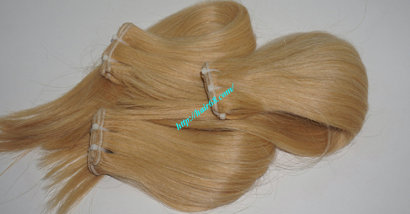 12 inch blonde weave hair straight remy hair 10