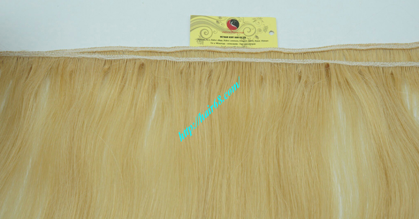 12 inch blonde weave hair straight remy hair 2