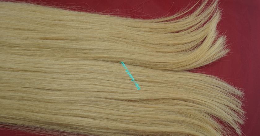 12 inch blonde weave hair straight remy hair 3