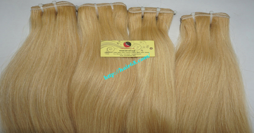 12 inch blonde weave hair straight remy hair 4