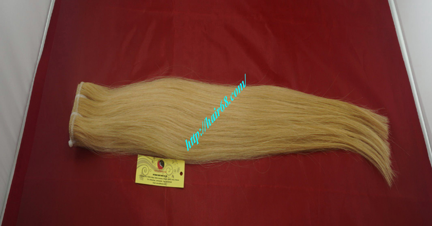 12 inch blonde weave hair straight remy hair 5