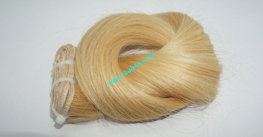 12 inch blonde weave hair straight remy hair 6