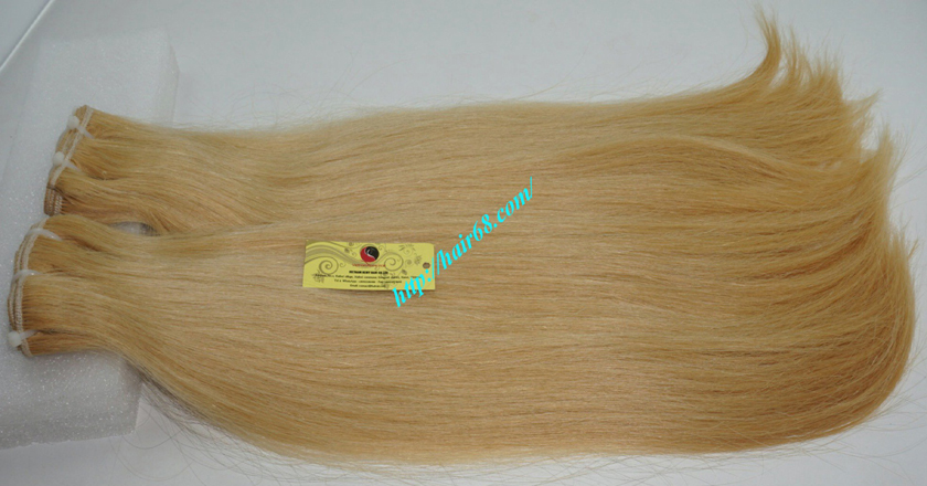 12 inch blonde weave hair straight remy hair 7