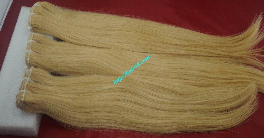12 inch blonde weave hair straight remy hair 8