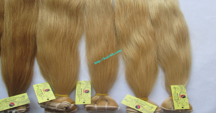 12 inch blonde weave hair straight remy hair 9