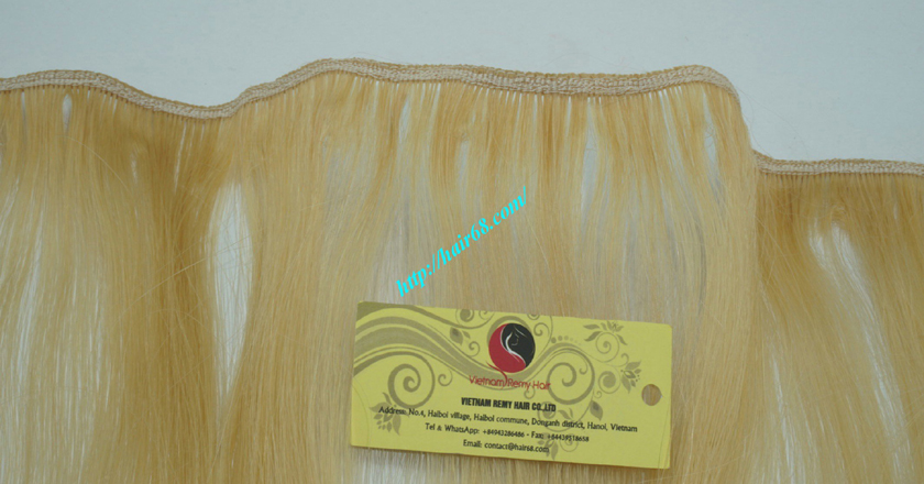 12 inch cheap blonde weave hair extensions 2