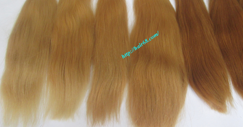 12 inch cheap blonde weave hair extensions 4