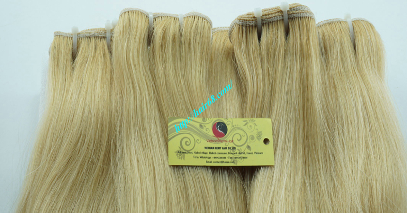 12 inch cheap blonde weave hair extensions 5
