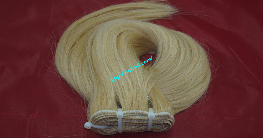 12 inch cheap blonde weave hair extensions 6