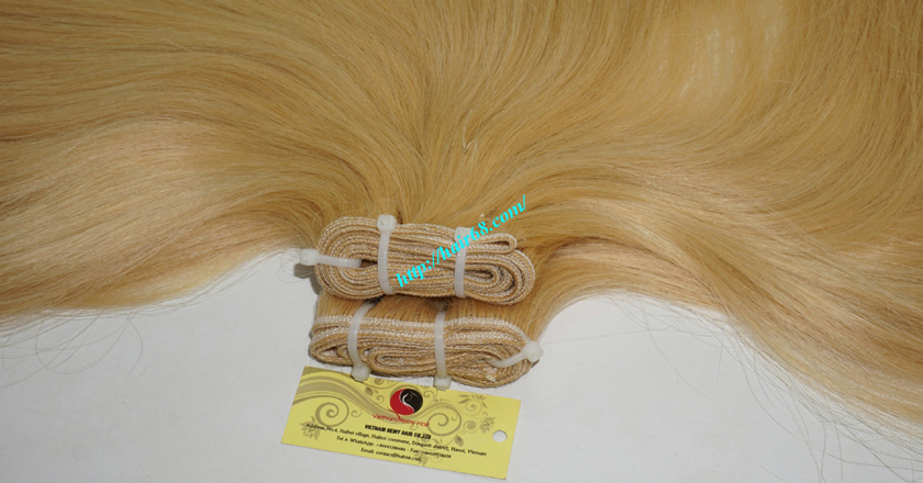 12 inch cheap blonde weave hair extensions 7